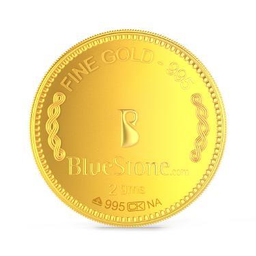 2 gms 24 KT Gold Coin