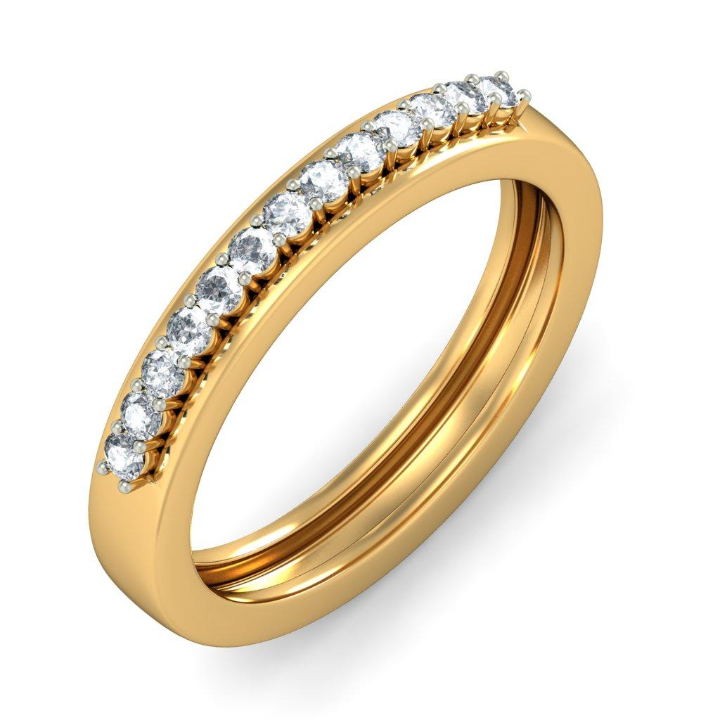 Simple gold engagement rings for women