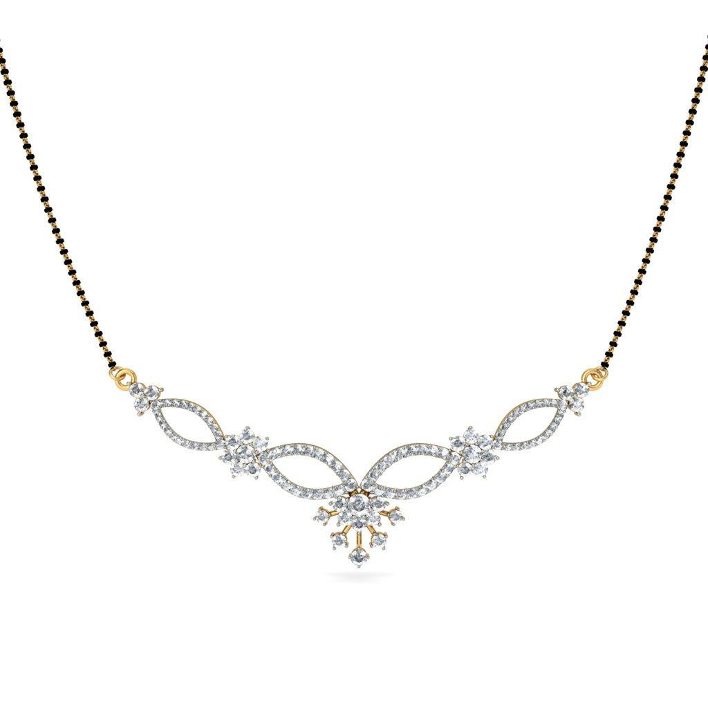 Look for Auspicious Diamond Mangalsutra Designs Online ...