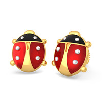 The Brave Ladybird Earrings For Kids