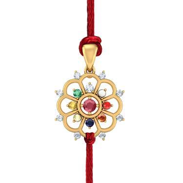 Gold Navaratna Rakhi Jewellery
