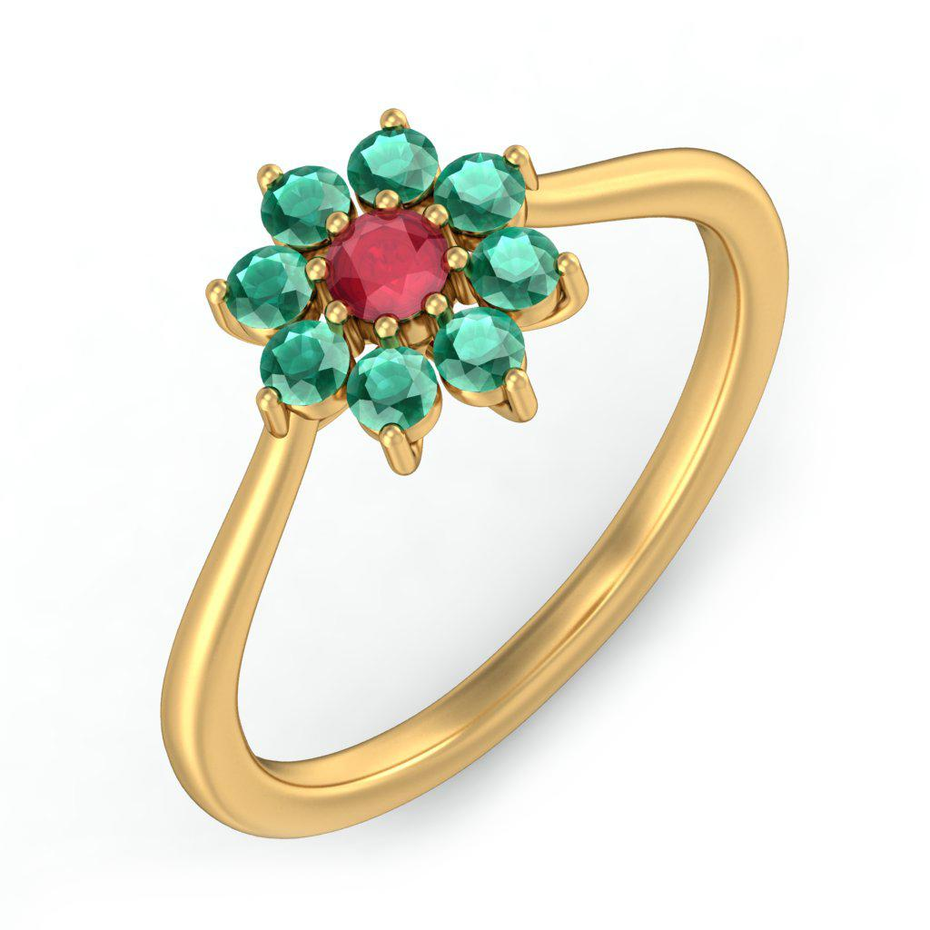 emerald rings for women in india
