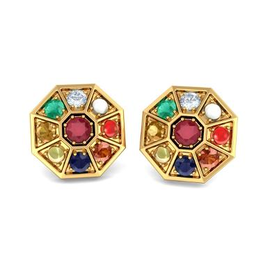 The Nav Kavach Earrings