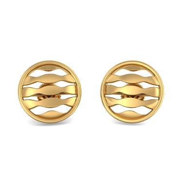 The Waves In Circle Earrings