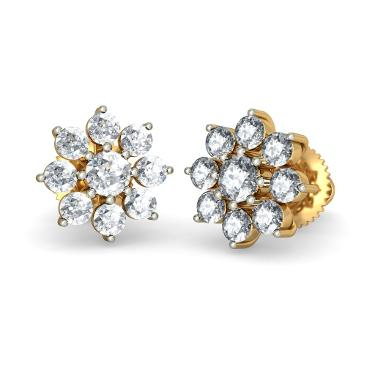 Diamond Floral Earrings